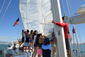 One of the goals of Educational Tall Ship is to get kids excited about protecting the ocean. Photo courtesy of Educational Tall Ship.