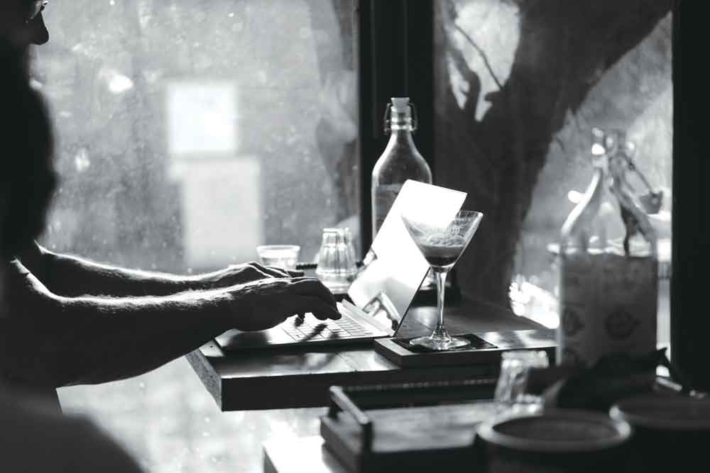 Writing in cafes