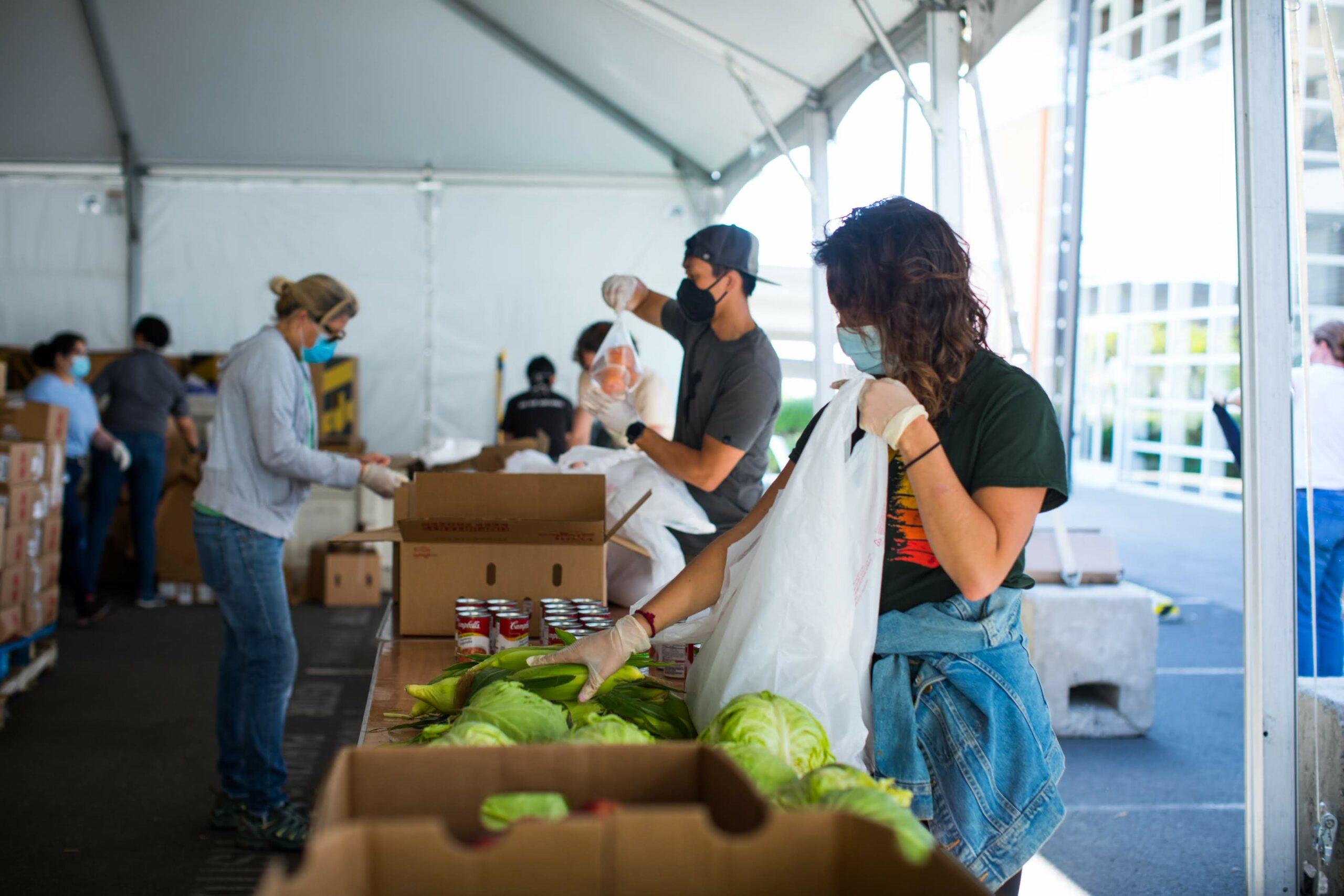 San Francisco-Marin Food Bank volunteers