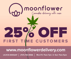 Moonflower cannabis deliver with ease, marina california