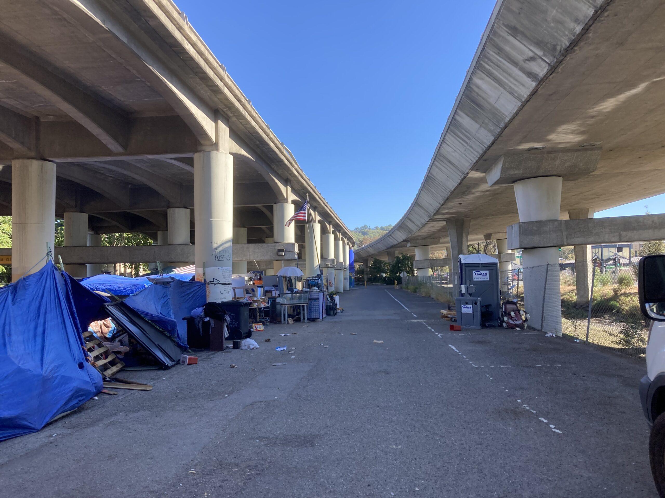 San Rafael homeless encampment